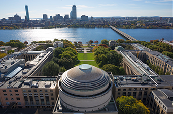 Aerial view of MIT dome