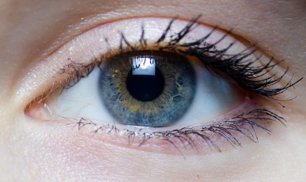 Right eye of a girl